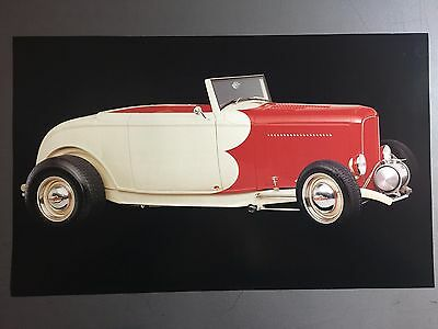1932 Ford Cabriolet Street Rod Print, Picture, Poster RARE!! Awesome L@@K