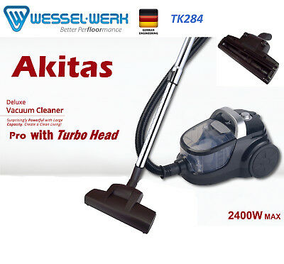 New 2400W Bagless Cyclone Vacuum Cleaner With German Wessel Turbo Head Free Post
