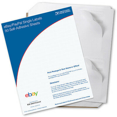 New USPS Click-N-Ship eBay/PayPal Single Labels (25 Pack)