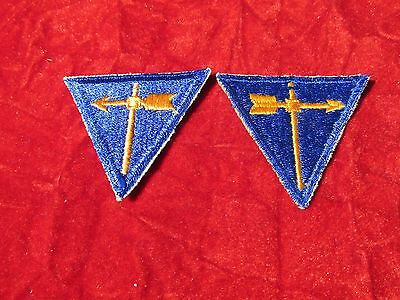 US Army Air Force AAF Weather Specialist Triangle patch set R and L variations