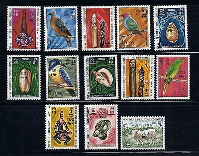 NEW HEBRIDES (BR) 1977 definitives Sc 217-229 comp MNH