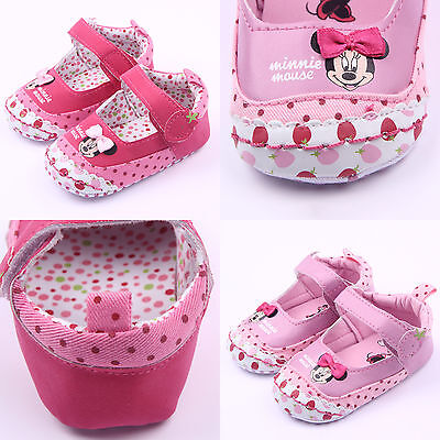 Newborn Kids Baby Girls Summer Minnie Mouse Pattern Shoes Infant Toddler Sandals
