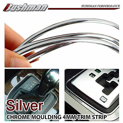 4.5M Chrome Silver Car Moulding Trim Strips Interior Dashboard Grille Decal 4mm