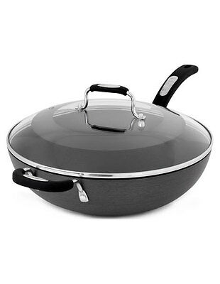 NEW Tefal 32cm Non-Stick Wok With Lid Black