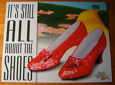 IT'S STILL ALL ABOUT THE SHOES Ruby Red Slippers Wizard of Oz Movie Sign Decor