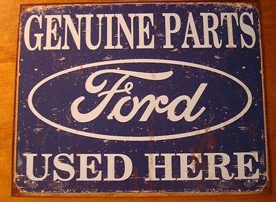 GENUINE FORD PARTS USED HERE Car Automobile Repair Tool Shop Vintage Decor Sign