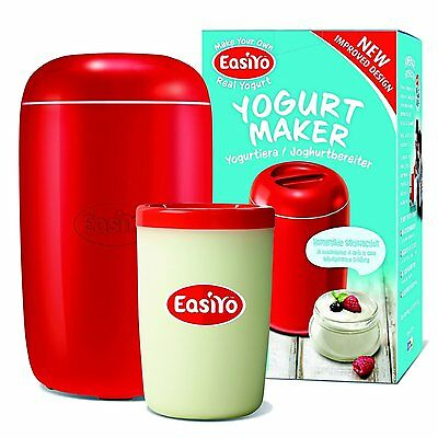 EasiYo Manual Yoghurt Maker (Homemade Yogurt in 8 Hours) Makes 1Kg Red