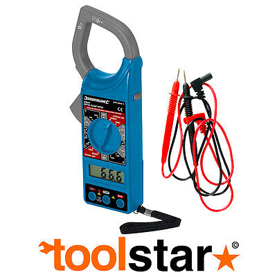 Digital 8 Range Electric Clamp Meter Tester Ac Dc Continuity Resistance Probes