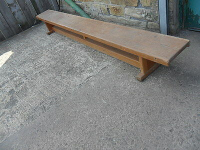 vintage low school bench gym form children's bench seat 7ft nursery long bench
