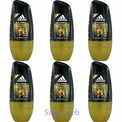 6 x 50ml Adidas Victory League Roll On Deo Deodorant Rollon Deostick Herrendeo
