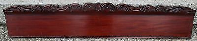 "VINTAGE MAHOGANY PEDIMENT w/ HEAVILY CARVED CREST 55 1/4"" wide"