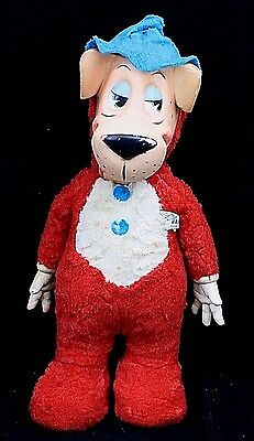 Vintage Huckleberry Hound Plush Toy Hanna-Barbera 1959 Retro Collectible 17""