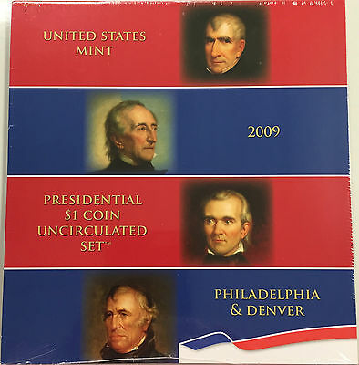 2009-Us-Mint-Presidential-P-D-Uncirculated-8-Coin Set-Sealed