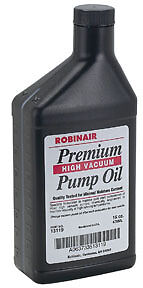 Premium High Vacuum Pump Oil - Pint Bottle Robinair 13119 ROB LP