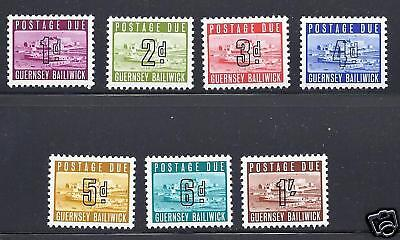 Gb Guernsey 1969 Postage Dues Vf Mlh