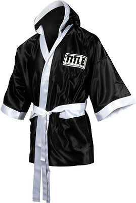 Title Boxing Stock Satin Walkout Robes - Fingertip Length