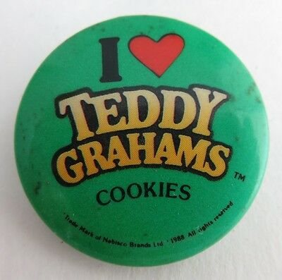 1988 I Love Teddy Grahams Cookies Pin Pinback Button   (Inv2018)