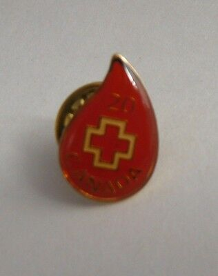 Canada Red Cross 20 Year Blood Drop Pin