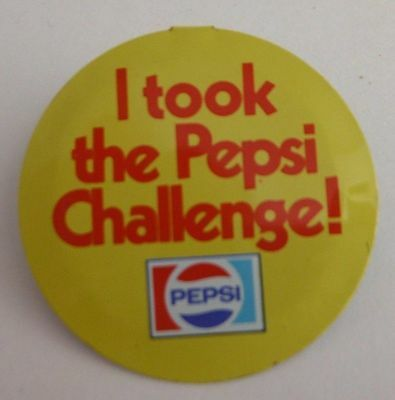 I Took The Pepsi Challenge Fold Back Pin