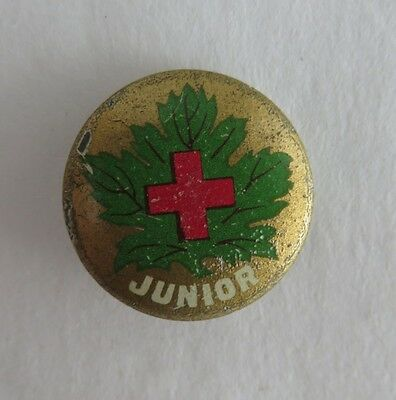 Patent 1917 Greenduck Red Cross Junior Pin Pinback Button   (Inv2066)