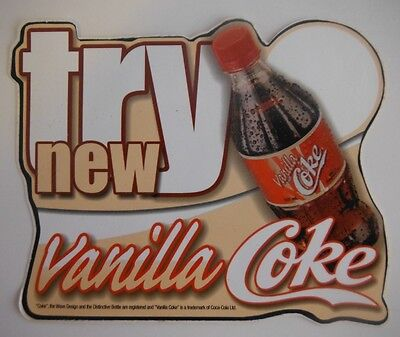 Coca-Cola Vanilla Coke Advertising Sticker - Unused