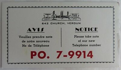 Vintage French Plumbing And Heating Supplies Blotter Trade Card    (Inv2704)
