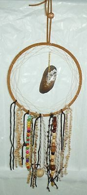 21 Inch Long Dream Catcher Hand Crafted With Wooden Bead Work