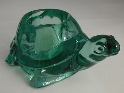 Glass Turtle Candle Holder