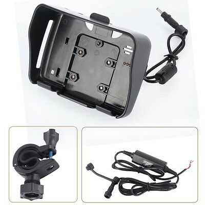 Mounting Bracket+Power Cable Motorcycle Charger for 4.3 inch Car GPS Navigation