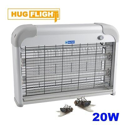 Electric 220V Light Mosquito Killer Fly Bug Insect Zapper Trap Catcher Lamp 20W