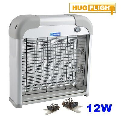 Hug Flight 12W Electric Industrial UV Zapper Kitchen Fly Insect Bug Killer 2x6W