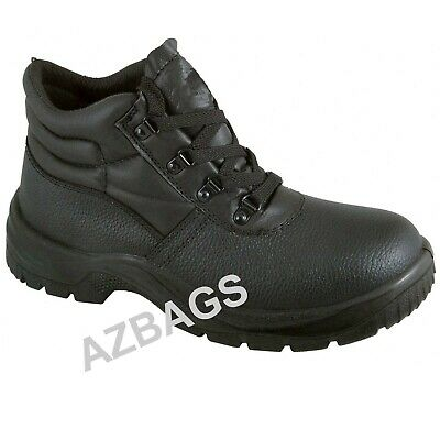 Chukka Safety Work Boots Leather Steel Toe Cap & Midsole Size 3-13 Mens New BKS