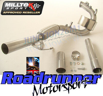 Milltek Golf MK6 2.0 TDI 170PS DPF Removal Delete Pipe Exhaust Stainles SSXVW086