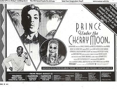 PRINCE Under The Cherry Moon film UK magazine ADVERT/Poster/clipping 8x6 inches