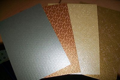 4 Sheets Beautiful Relief Paper In Diff Colors/ 21X15 Cm New New