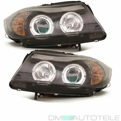 BMW E90 E91 Angel Eyes Scheinwerfer Schwarz LED CCFL Limousine Touring 05-08