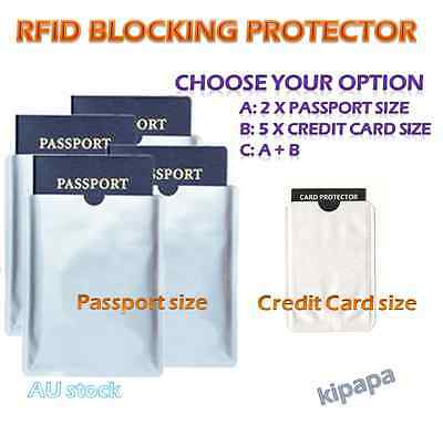RFID Blocking Passport & Credit Card Shield ID Theft Sleeve Protector Security