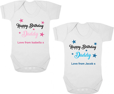 HAPPY BIRTHDAY DADDY Baby Bodysuit/Grow/Vest/Romper, Birthday Gift, I Love Daddy