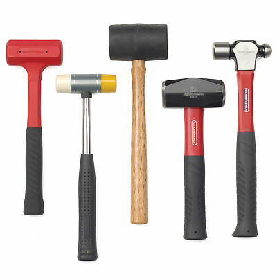 GearWrench 82303 5 Piece Hammer Set Forged Alloy Head Grip Handle Hand Tool