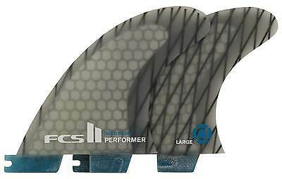 FCS II Performer Performance Core Carbon Quad Rear Set - Blue / Clear - New
