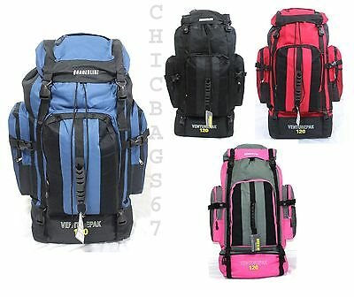 Ex Large 120L Travel Hiking Rucksack Backpack Camping Festival Luggage Bag IN UK