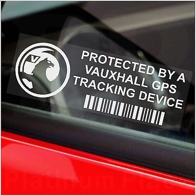 5 x Vauxhall (2008+) GPS Tracking Device Security Stickers-Car Alarm Tracker