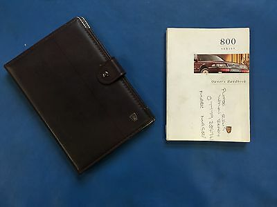 Rover 800 Series Owners Handbook with Brown Leather Folder