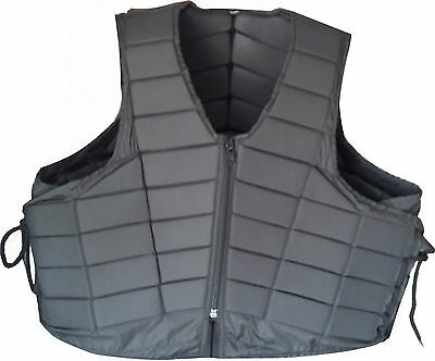 Adult Horse Riding Body Protector With Adjustable Side Laces Large