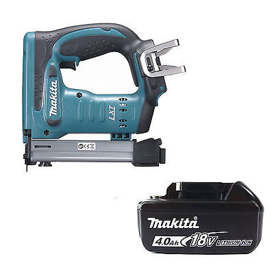 Makita 18V Lxt Dst221Z Stapler & Bl1840 Battery Fuel Cell Indicator