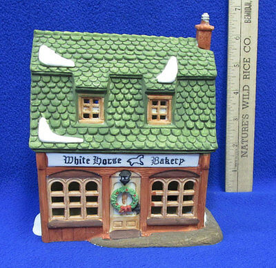 White Horse Bakery Department 56 Heritage Dickens Christmas Village House Dept