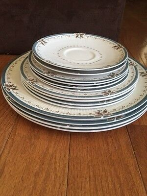 14  PC Royal Doulton Old Colony 4 Dinner 4 Salad  4 Bread Plates  2 Saucer