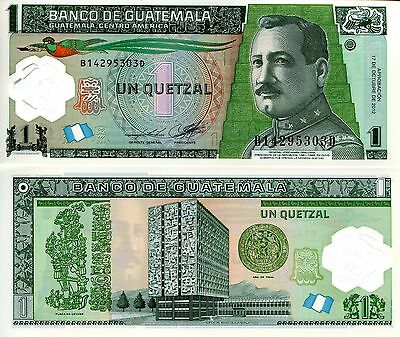 GUATEMALA 1 Quetzal Banknote World Paper Money UNC Currency 2012 (2014) Polymer