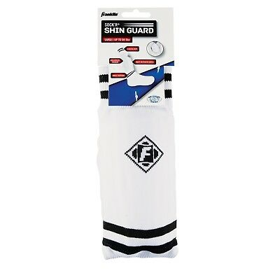 Franklin Youth Soccer Sock Shin Guard-Shinguards -Assorted Black/White, Medium