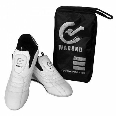 Wacoku Ultra Light Martial Arts Training Shoes White Taekwondo TKD Gym Trainers
